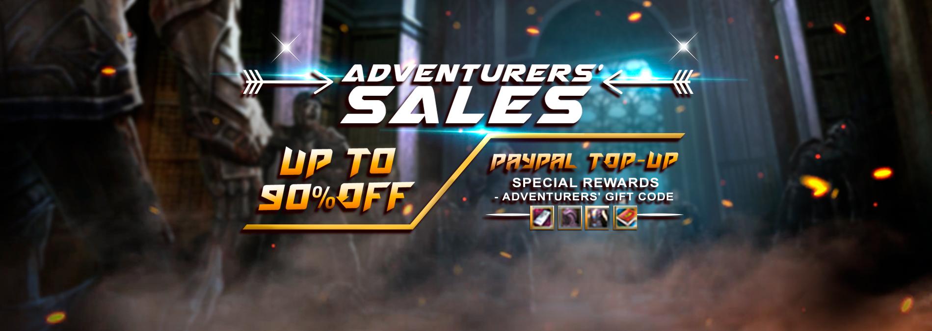 Adventurers' Sales!